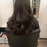 Salon Client Long Hair Blow Dry Curls